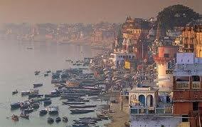 The holy Ganges in Varanasi - where washing, bathing and incineration come together