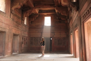 Challenged and looking for an answer... (Photo of me taken with timer at Agra Fort, India)