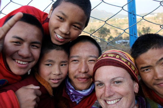 Meaningful relationships make me come alive (me with my Nepalese monk friends)