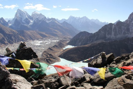 What type of ambition is pushing you to the summit? How will you get there? (View from Gokyo Ri, Nepal, Dec 2012)